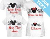 Family Mickey Minnie Vacation New Years Shirts. Happy New Year Shirt. Disney New Year Shirt. Disney Family Shirt. Mickey Family Shirt.