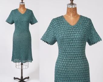Vintage 1960s Designer Ribbon Dress, Don Marshall, New York, Paris, Beverly Hills