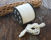 White Faux Suede Leather Cord, 15 feet bundle (5 yards) / Microfiber, Vegan Suede, DIY Cord Supplies, Faux Suede Cord, Supplies