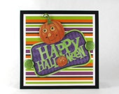 Kids halloween card, pumpkins, happy halloween, girls halloween, boys halloween