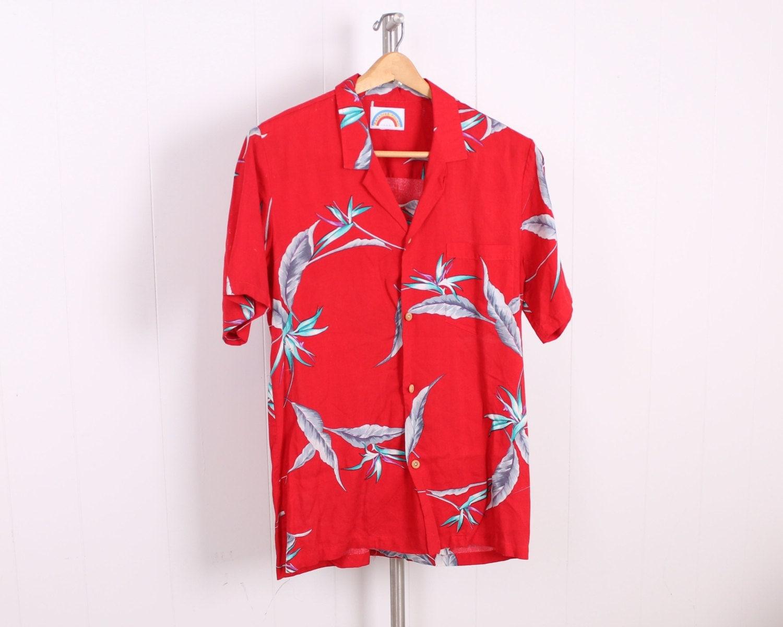 vintage magnum pi shirt button down tropical hawaiian print