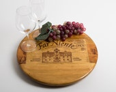 "Far Niente Estate Wine Crate featured on our 16"" Lazy Susan"