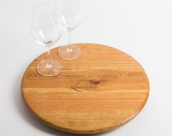 """Domaine Drouhin Wine Crate featured on our 16"""" Lazy Susan"""