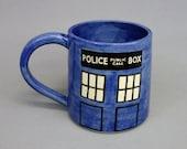 Police Box Mug: 18 oz Tardis Cup