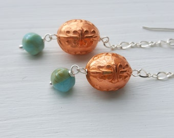 standing in the doorway - earrings - vintage lucite and sterling