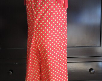 Green on Red Christmas Romper - Size 2