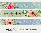 ETSY SHOP BANNERS, Set No21 - Multipurpose digital images/ Printable Download/ Digital Collage Sheets/ Bookmarks/ Paper Goods/ ArtCult