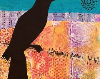 Bird on a Wire Print, Suitable for framing