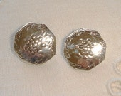 2 Vintage German Silver Buttons, small Silver Buttons 800