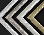 8 x 10 - 12 x 16 Metallic Frames - White, Silver, Gold