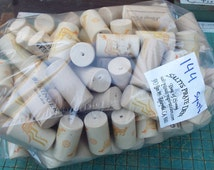 used wine corks, 144 synthetic wine corks. craft supply, corkboard, recycle, upcycle