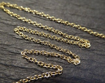 Shop Sale.. 10 20 30 feet, 1.0 mm 14k Gold Filled Chain, Cable Link Chain, 15-20% Less Bulk Price, wholesale chain delicate ssgf sgf9