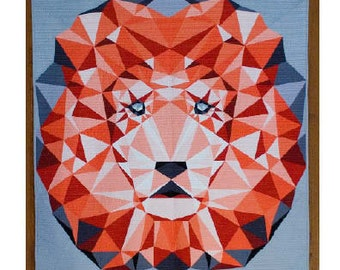 Jungle Abstractions: The Lion - PDF Quilt Pattern