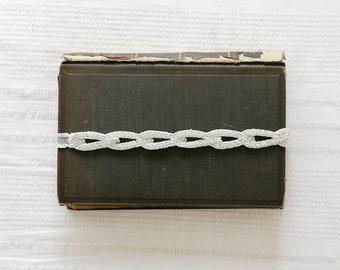 Silver wedding garter, Bridal lace garter,wedding garter, silver garter, antique garter, chain garter - style 531