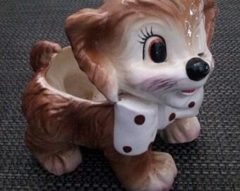 Vintage ADORABLE RELPO Samson Imports Dog Planter 1961