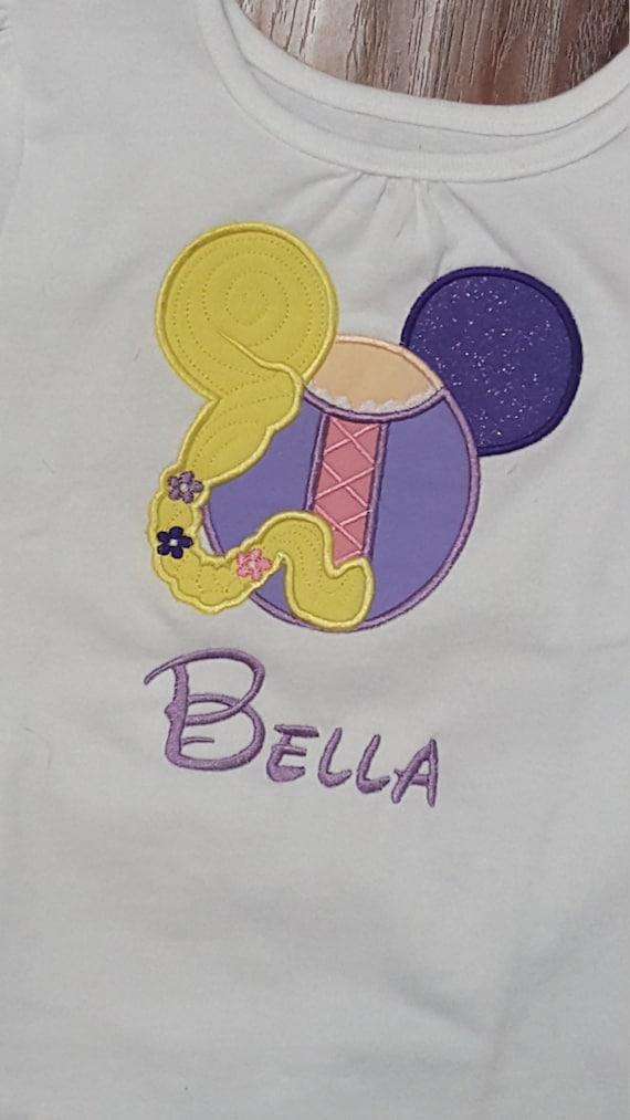 Rapunzel Princess Mouse Head Magical Vacation Custom