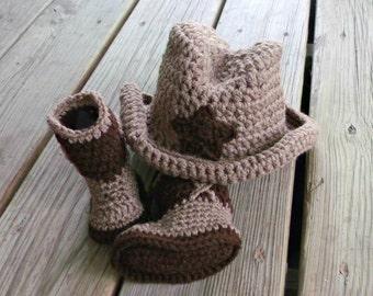 Cowboy Baby Hat - Cowboy Hats - Cowboy Boots - Baby Hats - Crochet Hat - Crochet Baby Hats - Baby Photography