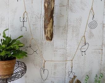 Wire Sculpture Garland