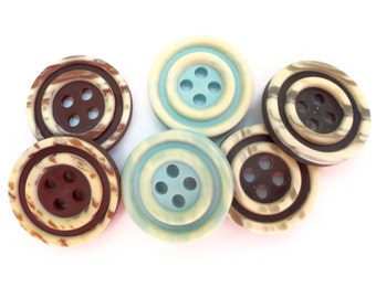 Mid Century Vintage Buttons - Your Choice of Sizes and Colors for Blazer Coat Jacket Sewing Knitting 15mm 19mm 23mm 5/8 3/4 7/8 inch