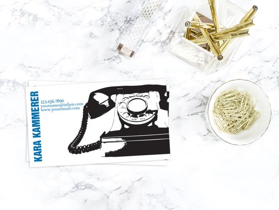 Phone Printable & Customizable Business/Calling Card Design - one sided