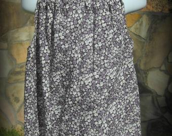 Girls' Purple and Black Print Pillowcase Dress