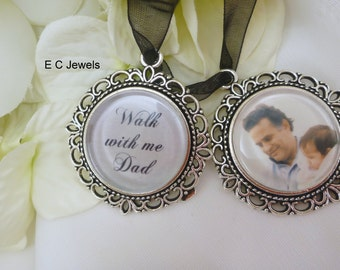 Set of 2 Bouquet Charms - Photo and Memorial