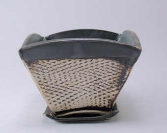 Ceramic Planter-Succulent Planter-Stoneware Planter-Hand Built Pottery-Textured Pottery