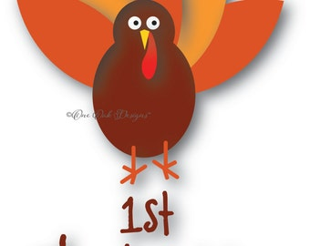 First Thanksgiving SVG File PDF / dxf / jpg / png / eps / ai / SVG File for Cameo V2 V3, for Cricut & other electronic cutters