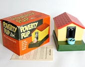 Vintage Poverty Pup Bank Battery Operated Original Box