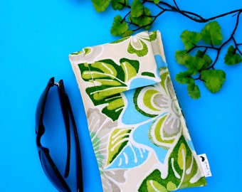 NEW SALE Roomy Sunglasses Case in a Tropical Design