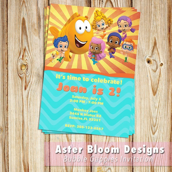 Bubble guppies invitation nick jr bubble guppies birthday party il570xn filmwisefo