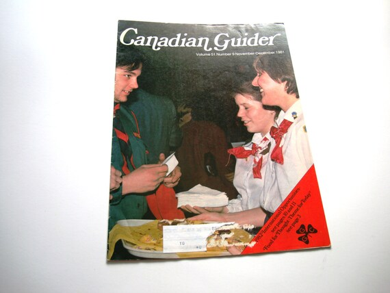 Vintage CANADIAN GUIDER Magazine Girl Guides of Canada Resource for Leaders, Teachers, Assistants - November December 1981