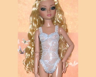 NEW Ready to Wear Light Blue Teddy Lingerie Outfit Fits Ellowyne Wilde Prudence Lizette Amber 16""