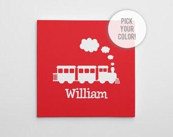 Train Canvas Print, Train Nursery Decor, Nursery Art Print, Train Wall Art, Train Canvas, Train Wall Art