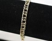 Vintage Gold-Tone Double Link Chain Bracelet