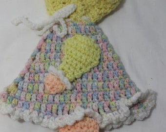 NEW Hand Crocheted Sunbonnet Sue Wall Hanging, Trivet, Potholder