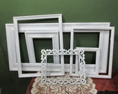 Picture Frames Set of 6 Upcycled Vintage Various Size Open Frame