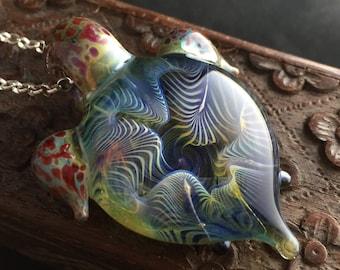 Coral Turtle Pendant