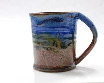 16 oz Mug Ceramic Copper Shore Edge Ceramic Mug Large
