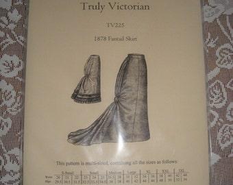 UNCUT Truly Victorian Pattern 1878 Fantail Skirt Sizes XL through 3XL