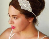 Weddings, Art deco headpiece, Rhinestone headband, Bridal hair band, Bridal headband, 1920s headband, Wedding headpiece, Gatsby, MARLENA