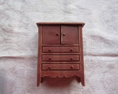 Dollhouse Decor. Bedroom Chest of Drawers. #210