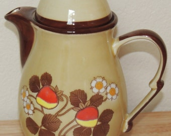 1970s Strawberry Teapot Made in Japan