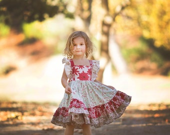 Girl Holiday Flutter Sleeve Dress, sizes 6 months to 8 years, by SunLoveShirts