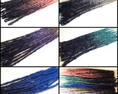 10 Black Ombre Synthetic dreads, synthetic dreadlock extensions, dreadlocks, dreads, dreadlock extensions. Your color choice, made to order