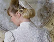 Clara Ivory 1920's Style Bridal Fascinator