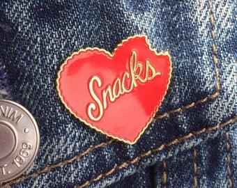Heart Snacks Enamel Pin