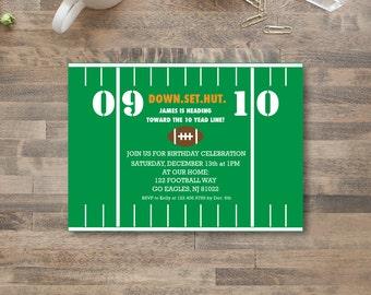 FOOTBALL INVITATION - diy printable