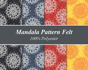 "Mandala Pattern Felt Sheets - 12"" X 12"", Multiple Pack Sizes Available"