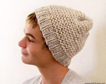 Mens Slouchy Beanie Hat, Mens Slouchy Hat,Mens Slouch Beanie, Slouchy Hat Men, Slouchy Beanie Men, Slouch Hat, Pom Pom Hat, Chunky Knit Hat